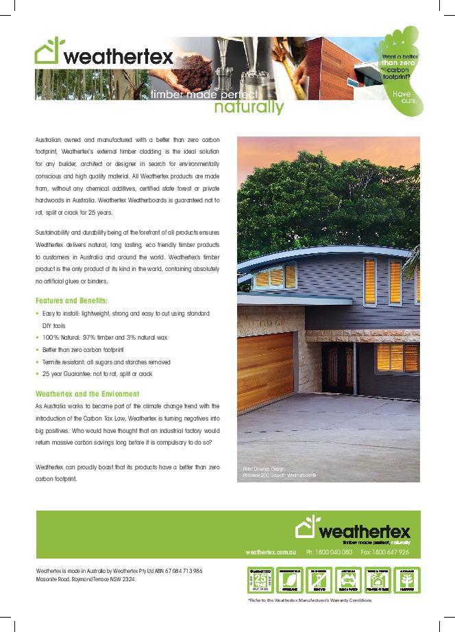 Weathertex-Carbon-Footprint-news-article-page-001